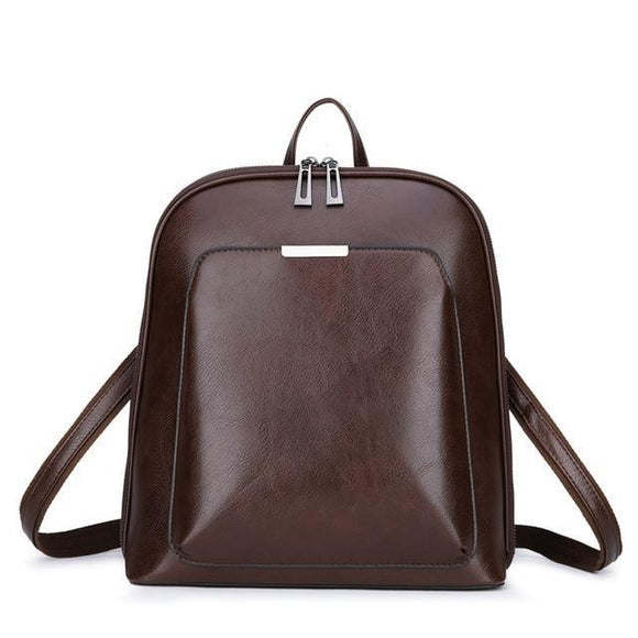 WOMEN'S GENUINE SHEEPSKIN FASHION LEATHER MINI BACKPACK