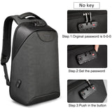 "Women's Medium Anti-Theft 15"" Laptop Backpack with USB Charging and TSA Lock"