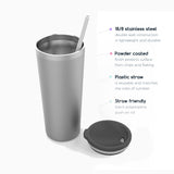 Shell Beach Straw Tumbler