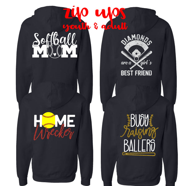 Softball: Zip Up Sweatshirt