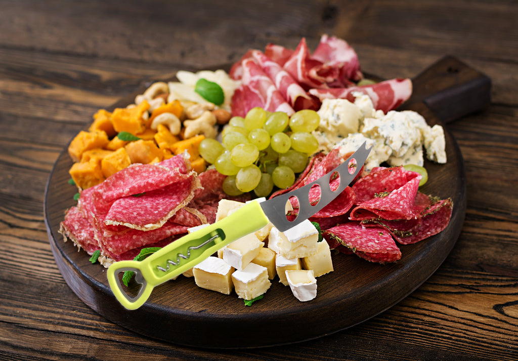 3-in-1 Cheese Knife with Wine and Beer Opener - Culinary Bob