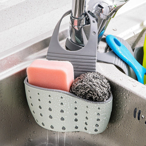 OUOH Useful Suction Cup Sink Shelf