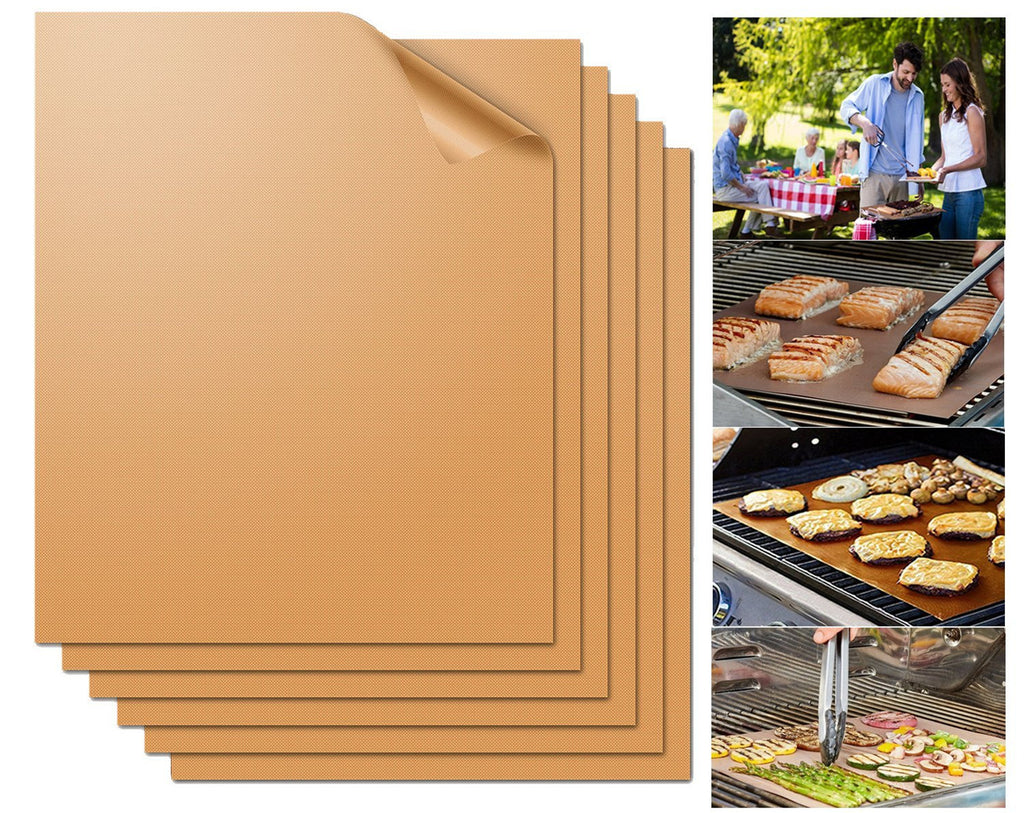 Copper Grill Mat 6 Set 15.75x13'