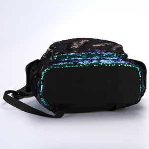 Green Sequin backpack
