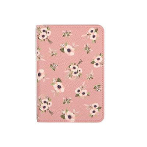 Pink Flowers Passport Cover