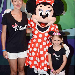 Mother Daughter Matching  Minnie Me T Shirt