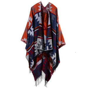 Cashmere Cape - Orange