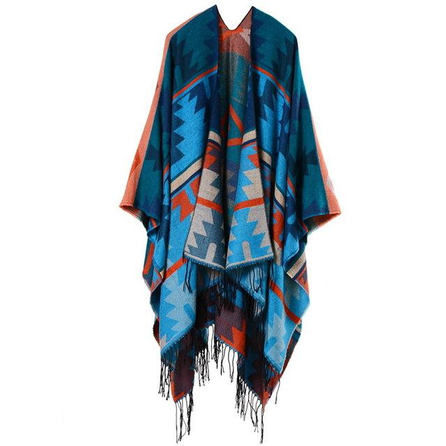 Cashmere Cape - Blue