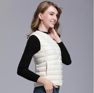 Women 90% Duck Down Vest with travel bag