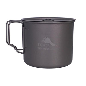 Camping Picnic Titanium Pot Mug Bowl 3 in1 Lightweight Camping Equipment
