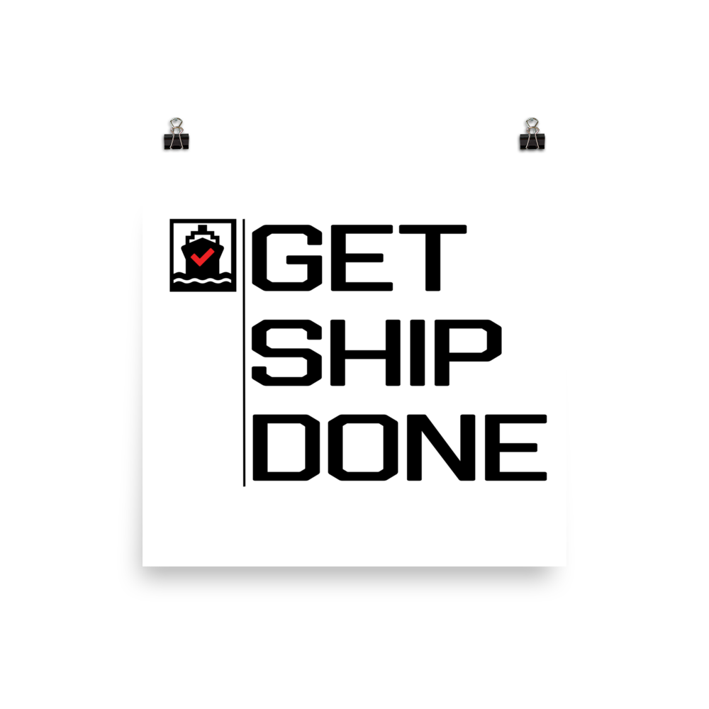 Get Ship Done Poster