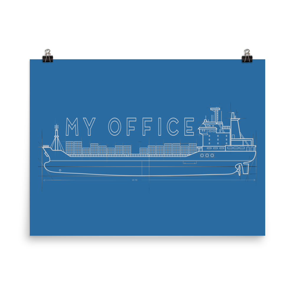 My Office Ship Poster