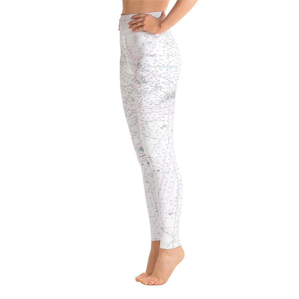 Hawai'ian Islands Chart Yoga Leggings