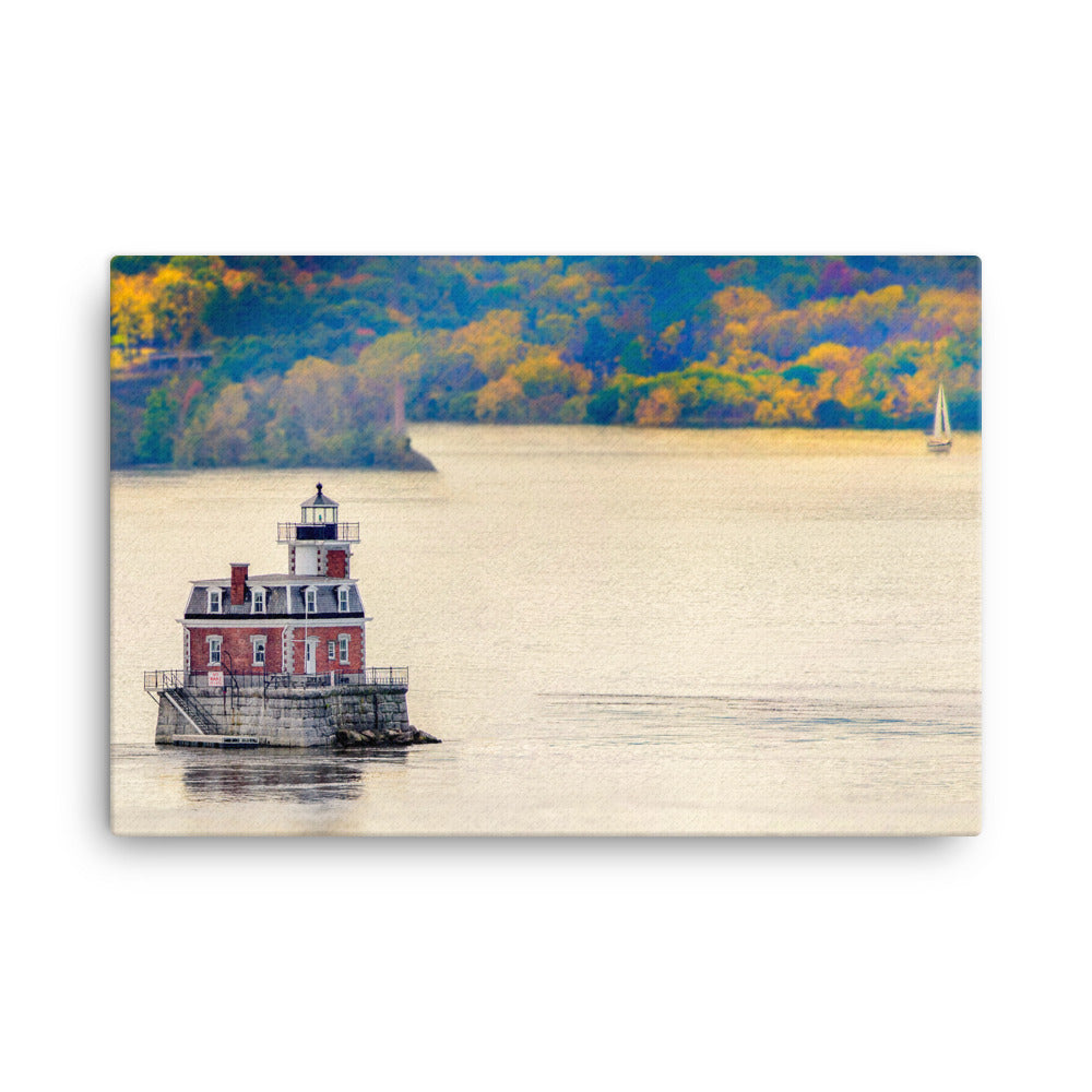 Autumn Lighthouse Canvas