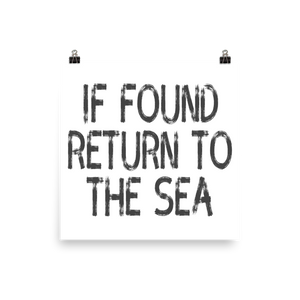 Return To Sea Poster