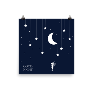 Kids Good Night Stars Sextant Poster