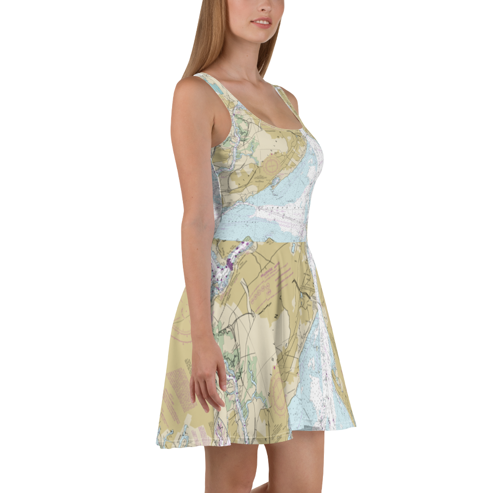 New York Nautical Chart Dress