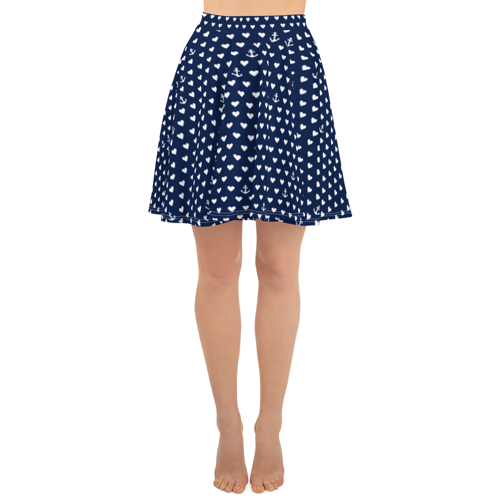 Anchors And Hearts Skirt