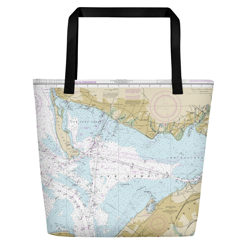 Authentic Nautical Chart Bag