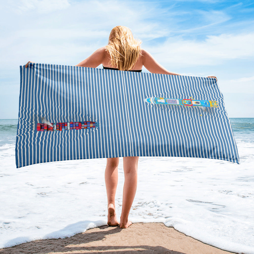 The Ultimate Ship Beach Towel