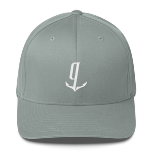 gCaptain White Logo Flexfit Ball Cap