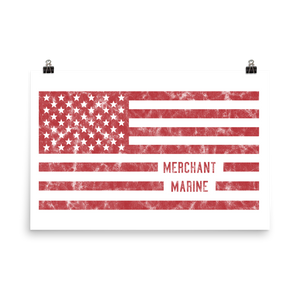 US Merchant Marine Flag Poster