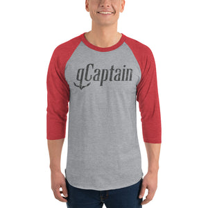 gCaptain 3/4 sleeve baseball shirt