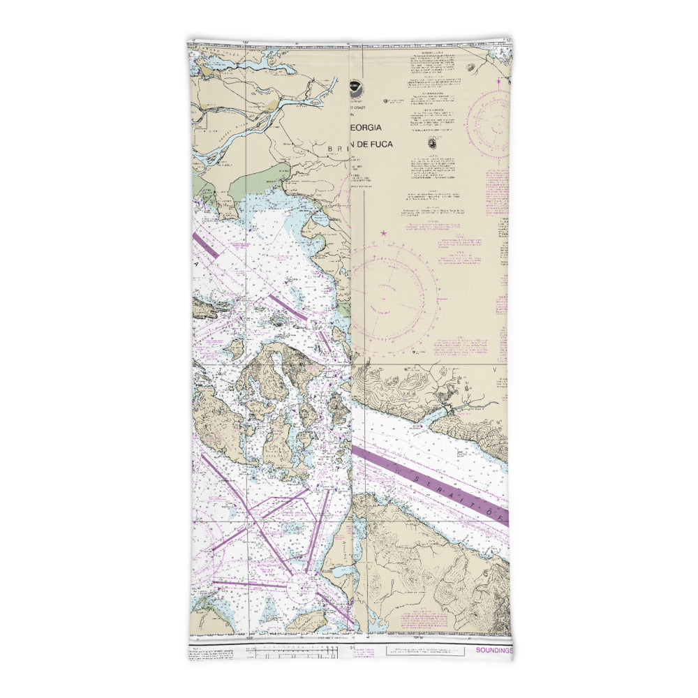 Nautical Chart Neck Gaiter Mask