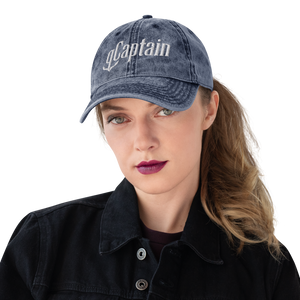 Distressed gCaptain Logo Vintage Cotton Cap