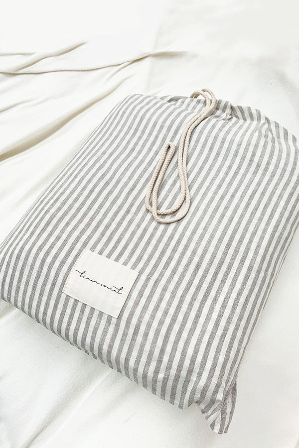 Grey Striped Sheet Set