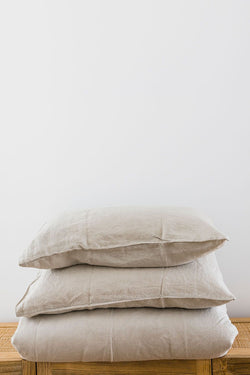 Dove Grey Standard Linen Pillowcase (Set of 2)
