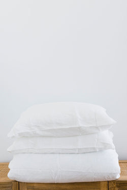 White Standard Linen Pillowcase (Set of 2)