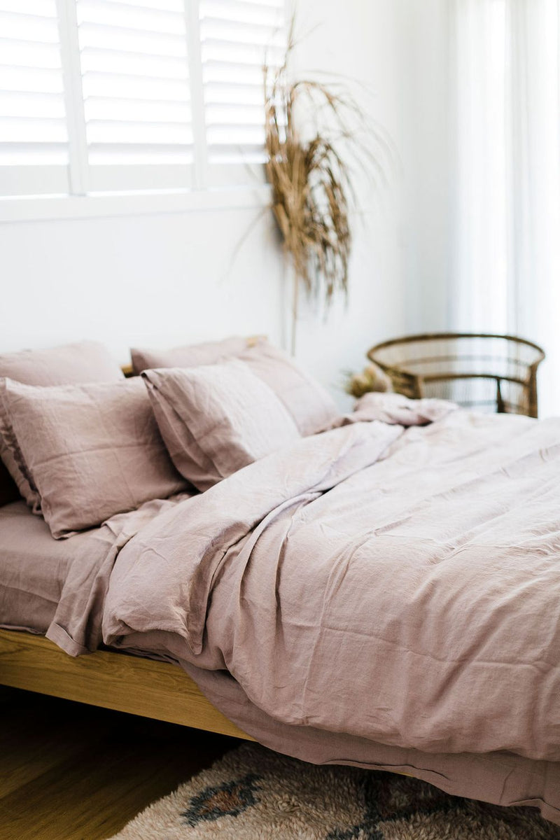 Dusty Pink Standard Linen Pillowcase (Set of 2)