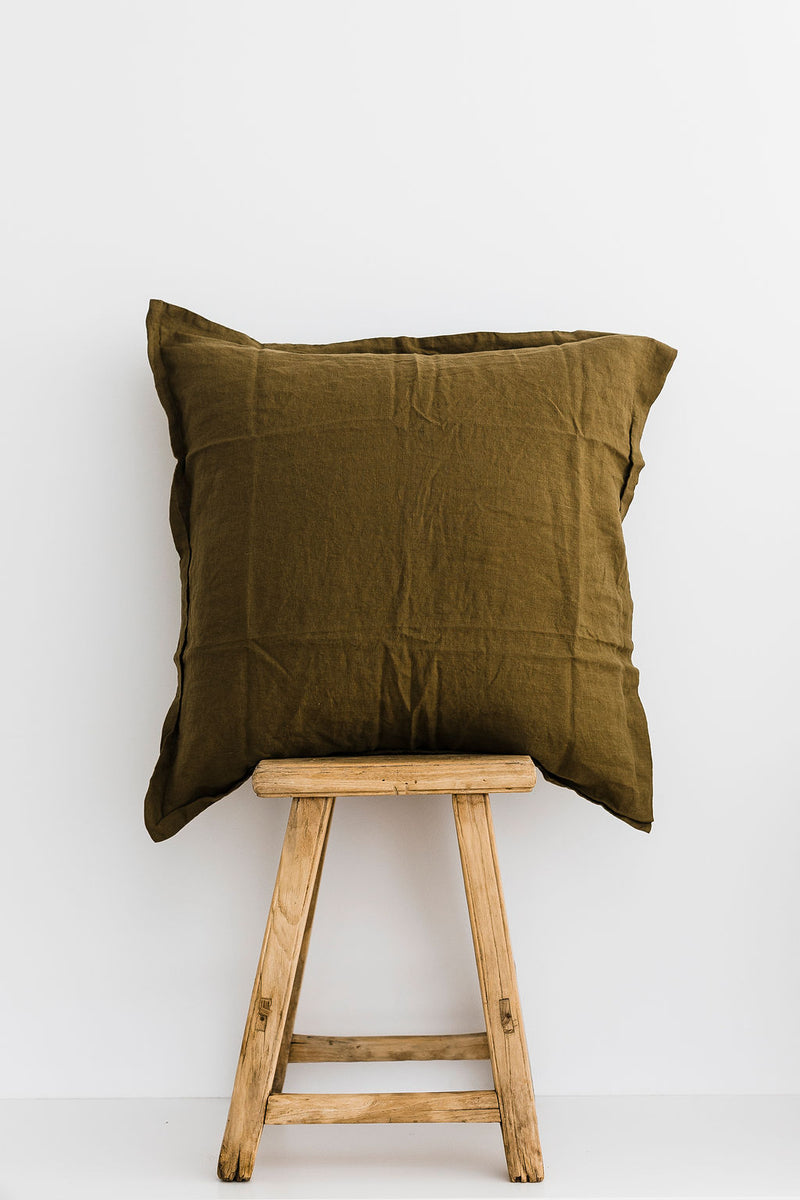 Olive European Pillowcase (Set of 2)