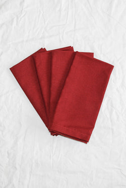 Linen Social - Ruby Red Napkin