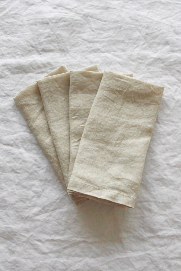 Linen Social - Wheat Biscuit Napkin