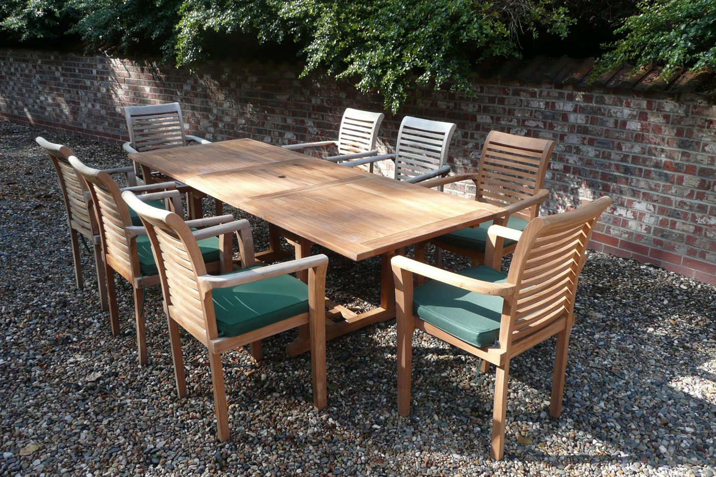 Stupendous The Harrogate 8 Seater Teak Garden Furniture Set Download Free Architecture Designs Sospemadebymaigaardcom