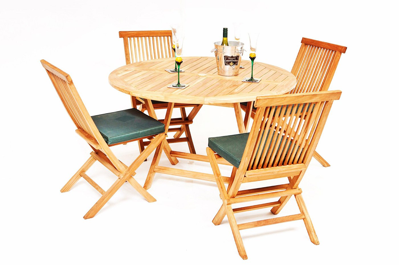5121a2a19a11 The Pocklington 4 Seater Teak Garden Table & Chairs Set | Garden ...