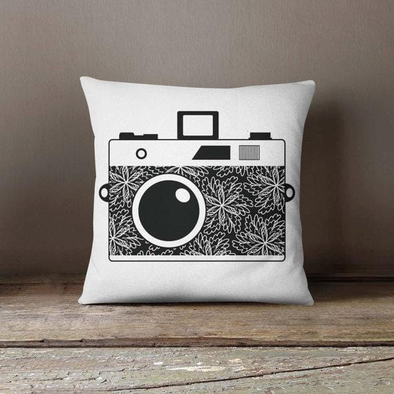 Retro Photo Camera Pillowcase