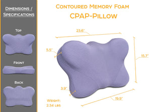 CPAP Pillows for Side Sleepers - Contoured Memory Foam CPAP Pillow with Cover