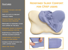 Load image into Gallery viewer, CPAP Pillows for Side Sleepers - Contoured Memory Foam CPAP Pillow with Cover