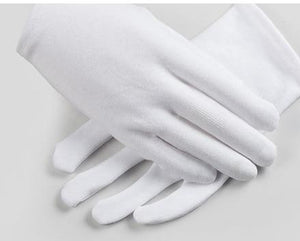 White Cotton Moisturizing Gloves