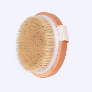 TREESMILE Natural bristles Bath brush  Exfoliating Wooden Dry Brush