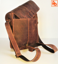 Load image into Gallery viewer, Shoulder Purse, Handcrafted, Vintage Style, Italian Oiled Leather.