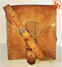 Load image into Gallery viewer, Handmade, Hand Stitched, Genuine Leather, Unisex Crossbody Purse.