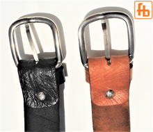 Load image into Gallery viewer, Leather Belt, Handcrafted Full Grain Leather, Adjustable Buckle.