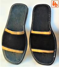 Load image into Gallery viewer, Gents' Handmade Sandals, Suede Upper/Leather Trim, Leather Sole.
