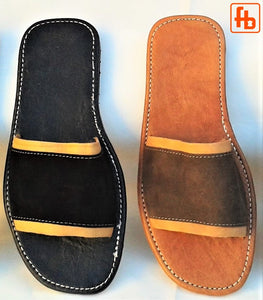 Gents' Handmade Sandals, Suede Upper/Leather Trim, Leather Sole.