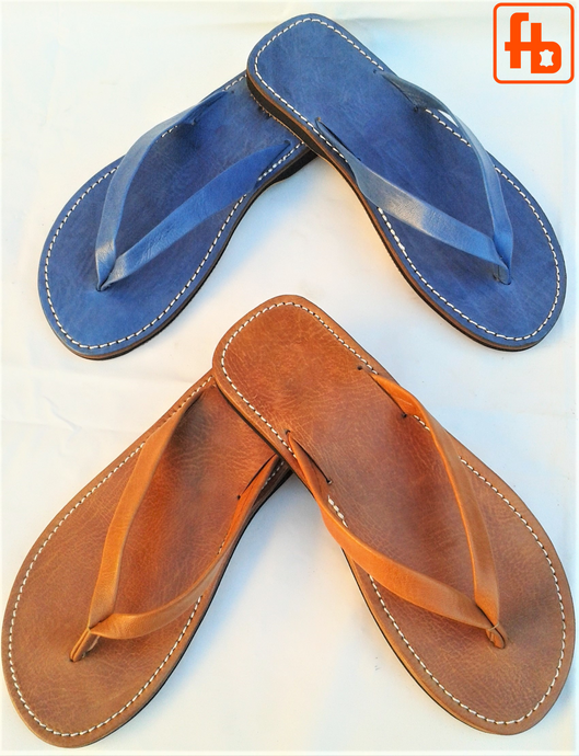 Gents' FlipFlop, Leather, 'Triple Rubber Composite Sole' - Comfort, Durability and Safety!