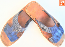 Load image into Gallery viewer, Gents' Sandals, Plaited Leather, 'Triple Rubber Composite Sole'.